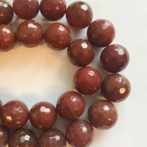 Shop Carnelian Faceted Beads! Natural Carnelian 20mm Faceted Round Gemstone Beads–15.5 inch strand-1 strand/3 strands | Natural genuine faceted Carnelian beads for beading and jewelry making.  #jewelry #beads #beadedjewelry #diyjewelry #jewelrymaking #beadstore #beading #affiliate #ad