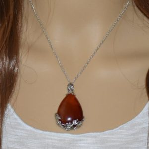 Carnelian Necklace, Carnelian Jewelry, Healing Crystal Necklace, Earthy Necklace, Anxiety Necklace, Healing Necklace | Natural genuine Carnelian necklaces. Buy crystal jewelry, handmade handcrafted artisan jewelry for women.  Unique handmade gift ideas. #jewelry #beadednecklaces #beadedjewelry #gift #shopping #handmadejewelry #fashion #style #product #necklaces #affiliate #ad