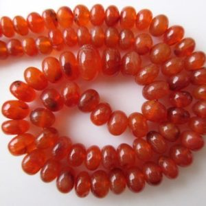 Shop Carnelian Rondelle Beads! Carnelian Rondelle Beads, Smooth Rondelle Beads, 7.5mm to 13mm Carnelian Beads, 18 Inch Strand, GDS660 | Natural genuine rondelle Carnelian beads for beading and jewelry making.  #jewelry #beads #beadedjewelry #diyjewelry #jewelrymaking #beadstore #beading #affiliate #ad