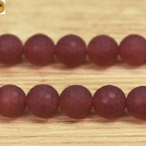 Shop Carnelian Round Beads! 15 inch strand of natural Carnelian matte faceted(128 faces) round beads 6mm 8mm 10mm 12mm 14mm for Choice | Natural genuine round Carnelian beads for beading and jewelry making.  #jewelry #beads #beadedjewelry #diyjewelry #jewelrymaking #beadstore #beading #affiliate #ad
