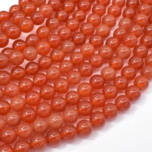 Carnelian Beads, 6mm(6.3mm) Round Beads, 15 Inch, Full strand, Approx 63 beads, Hole 1mm, A quality (182054020) | Natural genuine beads Array beads for beading and jewelry making.  #jewelry #beads #beadedjewelry #diyjewelry #jewelrymaking #beadstore #beading #affiliate #ad