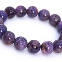 16 Pcs – 13mm Charoite Bracelet Grade A+ Genuine Natural Deep Purple Cream Swirling Round Gemstone Beads (114816) | Natural genuine Gemstone jewelry. Buy crystal jewelry, handmade handcrafted artisan jewelry for women.  Unique handmade gift ideas. #jewelry #beadedjewelry #beadedjewelry #gift #shopping #handmadejewelry #fashion #style #product #jewelry #affiliate #ad