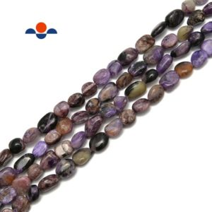 Shop Charoite Chip & Nugget Beads! Charoite Pebble Nugget Beads Size Approx 6x8mm 15.5'' Strand | Natural genuine chip Charoite beads for beading and jewelry making.  #jewelry #beads #beadedjewelry #diyjewelry #jewelrymaking #beadstore #beading #affiliate #ad