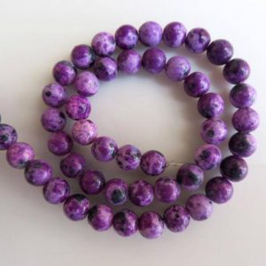 Shop Charoite Beads! Charoite Large Hole Gemstone beads, 8mm Charoite Smooth Round Mala Beads, Drill Size 1mm, 15 Inch Strand, GDS583 | Natural genuine beads Charoite beads for beading and jewelry making.  #jewelry #beads #beadedjewelry #diyjewelry #jewelrymaking #beadstore #beading #affiliate #ad