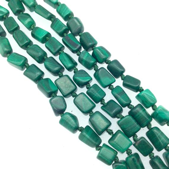 """4-6mm X 8mm Natural Faceted Green Chrysocolla Nugget Beads - Sold By 15"""" Strands (approx. 50 Beads) - Natural Gemstone"""