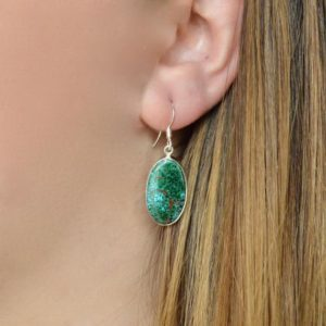 Shop Chrysocolla Earrings! Simple Oval Chrysocolla Earrings // Chrysocolla Jewelry // Chrysocolla Stone // Sterling Silver // Village Silversmith   Natural genuine Chrysocolla earrings. Buy crystal jewelry, handmade handcrafted artisan jewelry for women.  Unique handmade gift ideas. #jewelry #beadedearrings #beadedjewelry #gift #shopping #handmadejewelry #fashion #style #product #earrings #affiliate #ad