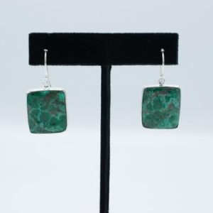 Shop Chrysocolla Earrings! Chrysocolla Square Earrings // Chrysocolla Jewelry // Chrysocolla Stone // Sterling Silver // Village Silversmith   Natural genuine Chrysocolla earrings. Buy crystal jewelry, handmade handcrafted artisan jewelry for women.  Unique handmade gift ideas. #jewelry #beadedearrings #beadedjewelry #gift #shopping #handmadejewelry #fashion #style #product #earrings #affiliate #ad