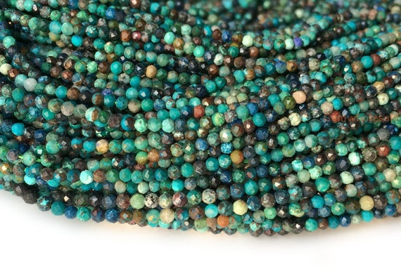 Turquoise Blue Chrysocolla 5 Pieces Chrysocolla Beads 15-2mm Chrysocolla Faceted Heart Beads Chrysocolla Necklace