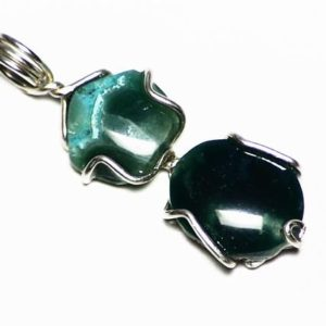 Shop Chrysocolla Pendants! Gem Silica Chalcedony Pendant in Sterling Silver (6.65 carats) Unusual Green Gem Silica with Chrysocolla from Peru, Green Gem Jewelry Gift | Natural genuine Chrysocolla pendants. Buy crystal jewelry, handmade handcrafted artisan jewelry for women.  Unique handmade gift ideas. #jewelry #beadedpendants #beadedjewelry #gift #shopping #handmadejewelry #fashion #style #product #pendants #affiliate #ad