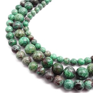 "Shop Chrysocolla Round Beads! Green Chrysocolla Smooth Round Beads Size 6mm 8mm 10mm 15.5"" Strand 