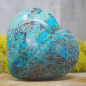 Shop Chrysocolla Shapes! Chrysocolla Crystal Heart  – 1257.31   Natural genuine stones & crystals in various shapes & sizes. Buy raw cut, tumbled, or polished gemstones for making jewelry or crystal healing energy vibration raising reiki stones. #crystals #gemstones #crystalhealing #crystalsandgemstones #energyhealing #affiliate #ad