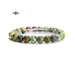 Shop Chrysoprase Bracelets! Green Chrysoprase Smooth Round Elastic Bracelet 4mm 5mm 6mm 8mm 10mm 7.5''Length | Natural genuine Chrysoprase bracelets. Buy crystal jewelry, handmade handcrafted artisan jewelry for women.  Unique handmade gift ideas. #jewelry #beadedbracelets #beadedjewelry #gift #shopping #handmadejewelry #fashion #style #product #bracelets #affiliate #ad