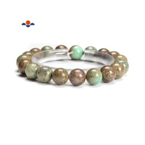 Shop Chrysoprase Bracelets! Chrysoprase Smooth Round Elastic Bracelet Beads Size 6mm 8mm 10mm 7.5'' Length | Natural genuine Chrysoprase bracelets. Buy crystal jewelry, handmade handcrafted artisan jewelry for women.  Unique handmade gift ideas. #jewelry #beadedbracelets #beadedjewelry #gift #shopping #handmadejewelry #fashion #style #product #bracelets #affiliate #ad