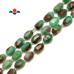 "Shop Chrysoprase Chip & Nugget Beads! Chrysoprase Faceted Nugget Chunk Beads Approx 15x20mm 15.5"" Strand 
