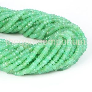Shop Chrysoprase Faceted Beads! Chrysoprase Faceted Rondelle Shape Gemstone Natural Beads, Chrysoprase Faceted Beads, Chrysoprase Rondelle Beads, Chrysoprase Beads | Natural genuine faceted Chrysoprase beads for beading and jewelry making.  #jewelry #beads #beadedjewelry #diyjewelry #jewelrymaking #beadstore #beading #affiliate #ad