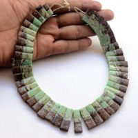 "Natural Chrysoprase Layout Necklace Gemstone, 17"" 15mm To 30mm Bib Necklace Cleopatra Necklace Collar Necklace For Women, Gds2059 