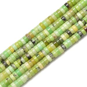Shop Chrysoprase Bead Shapes! Chinese Chrysoprase Heishi Disc Beads Size 2x4mm 15.5'' per Strand | Natural genuine other-shape Chrysoprase beads for beading and jewelry making.  #jewelry #beads #beadedjewelry #diyjewelry #jewelrymaking #beadstore #beading #affiliate #ad