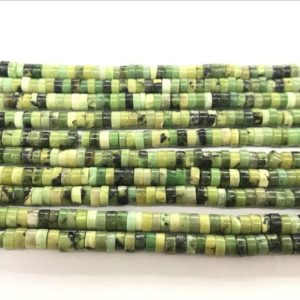 Natural Chrysoprase 4mm – 8mm Heishi Genuine Green Gemstone Loose Beads 15 inch Jewelry Supply Bracelet Necklace Material Support Wholesale | Natural genuine other-shape Gemstone beads for beading and jewelry making.  #jewelry #beads #beadedjewelry #diyjewelry #jewelrymaking #beadstore #beading #affiliate #ad