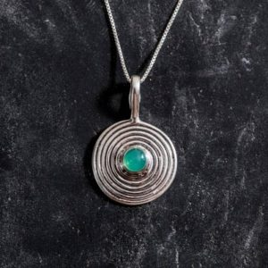 Shop Chrysoprase Pendants! Infinity Pendant, Chrysoprase Pendant, Natural Chrysoprase, Round Pendant, Vintage Pendant, Australian Stone, Silver Pendant, Solid Silver | Natural genuine Chrysoprase pendants. Buy crystal jewelry, handmade handcrafted artisan jewelry for women.  Unique handmade gift ideas. #jewelry #beadedpendants #beadedjewelry #gift #shopping #handmadejewelry #fashion #style #product #pendants #affiliate #ad
