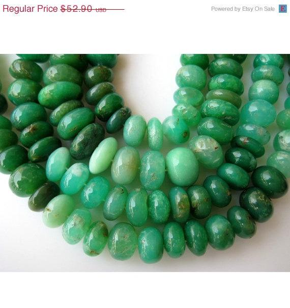 12mm Natural Chrysoprase Smooth Rondelles Beads, Shaded Chrysoprase, Rondelle Beads, 12mm Beads, Half Strand 9 Inches, 32