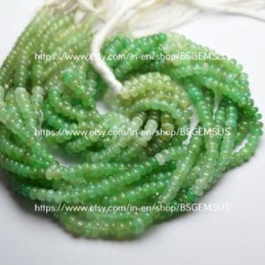 Shop Chrysoprase Rondelle Beads! 15 Inches Strand, Finest Quality, Natural Chrysoprase Smooth Rondelles, Size 4.5mm   Natural genuine rondelle Chrysoprase beads for beading and jewelry making.  #jewelry #beads #beadedjewelry #diyjewelry #jewelrymaking #beadstore #beading #affiliate #ad