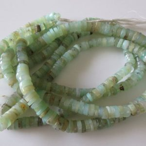 Shop Chrysoprase Rondelle Beads! 3 Strands Wholesale 9mm Beautiful Chrysoprase Tyre Rondelles, Smooth Natural Chrysoprase Heishi Beads, 13 Inch Strand, Gds16 | Natural genuine rondelle Chrysoprase beads for beading and jewelry making.  #jewelry #beads #beadedjewelry #diyjewelry #jewelrymaking #beadstore #beading #affiliate #ad