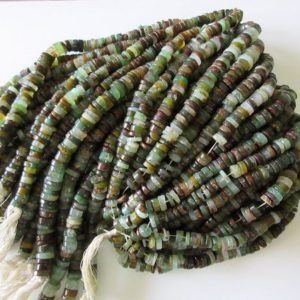 Shop Chrysoprase Rondelle Beads! 5 Strands Wholesale Beautiful Chrysoprase Tyre Rondelles, 9mm Smooth Natural Chrysoprase Heishi Beads, 13 Inch Strand, Gds13 | Natural genuine rondelle Chrysoprase beads for beading and jewelry making.  #jewelry #beads #beadedjewelry #diyjewelry #jewelrymaking #beadstore #beading #affiliate #ad