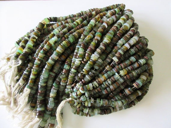 5 Strands Wholesale Beautiful Chrysoprase Tyre Rondelles, 9mm Smooth Natural Chrysoprase Heishi Beads, 13 Inch Strand, Gds13