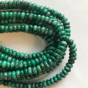 Shop Chrysoprase Rondelle Beads! Chrysoprase 8x5mm Rondelle Shaped Natural Gemstone Bead~ -15.5 Inch Strand–1 Strand / 3 Strands   Natural genuine rondelle Chrysoprase beads for beading and jewelry making.  #jewelry #beads #beadedjewelry #diyjewelry #jewelrymaking #beadstore #beading #affiliate #ad