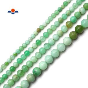 """Shop Chrysoprase Round Beads! AAA Grade Chrysoprase Smooth Round Beads Size 4mm 5mm 6mm 8mm 15.5"""" Strand 