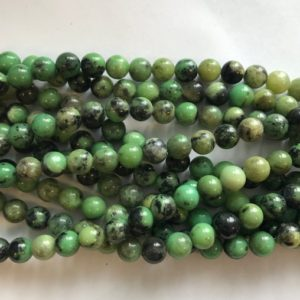 Shop Chrysoprase Round Beads! natural chrysoprase round 8mm gemstone Bead -15 inch strand 1 strand/3 strands | Natural genuine round Chrysoprase beads for beading and jewelry making.  #jewelry #beads #beadedjewelry #diyjewelry #jewelrymaking #beadstore #beading #affiliate #ad
