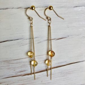 Shop Citrine Earrings! Citrine Earrings Citrine Dangle Earrings November Birthstone Citrine Jewelry Gemstone Earrings | Natural genuine Citrine earrings. Buy crystal jewelry, handmade handcrafted artisan jewelry for women.  Unique handmade gift ideas. #jewelry #beadedearrings #beadedjewelry #gift #shopping #handmadejewelry #fashion #style #product #earrings #affiliate #ad