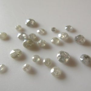 Shop Diamond Cabochons! 3 Pieces, 4mm To 5mm Clear Opaque White Rose Cut Diamonds, Rose Cut Cabochon, Excellent Cut / height / lustre, White Diamond Rose Cut, Sku-rcd52 | Natural genuine stones & crystals in various shapes & sizes. Buy raw cut, tumbled, or polished gemstones for making jewelry or crystal healing energy vibration raising reiki stones. #crystals #gemstones #crystalhealing #crystalsandgemstones #energyhealing #affiliate #ad