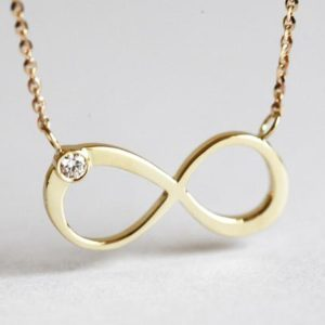 Shop Diamond Necklaces! Gold Diamond Infinity Necklace, Solid Gold Infinity Necklace, 14k Gold Dainty Petite Infinity Necklace   Natural genuine Diamond necklaces. Buy crystal jewelry, handmade handcrafted artisan jewelry for women.  Unique handmade gift ideas. #jewelry #beadednecklaces #beadedjewelry #gift #shopping #handmadejewelry #fashion #style #product #necklaces #affiliate #ad