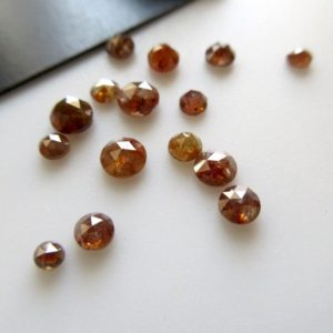 Shop Diamond Round Beads! 5 Pieces 2.5mm To 5mm Clear Red Round Rose Cut Diamonds Loose Cabochon, Excellent Cut/Height/Lustre Red Diamond Rose Cut, DDS595/8 | Natural genuine round Diamond beads for beading and jewelry making.  #jewelry #beads #beadedjewelry #diyjewelry #jewelrymaking #beadstore #beading #affiliate #ad