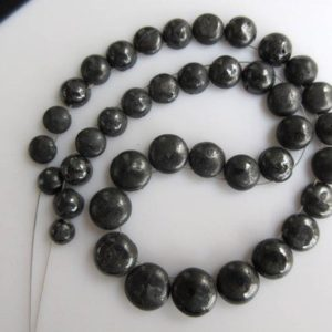 Shop Diamond Round Beads! OOAK 20 Pieces Button Shaped Flat Back Drilled Gray Black Raw Diamond Smooth Round Cabochon Briolettes, Conflict Free Diamonds, DDS502 | Natural genuine round Diamond beads for beading and jewelry making.  #jewelry #beads #beadedjewelry #diyjewelry #jewelrymaking #beadstore #beading #affiliate #ad