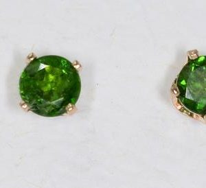 Shop Diopside Earrings! Chrome Diopside 14 kt Yellow Gold Stud Earrings with 2-5mm Gemstones   Natural genuine Diopside earrings. Buy crystal jewelry, handmade handcrafted artisan jewelry for women.  Unique handmade gift ideas. #jewelry #beadedearrings #beadedjewelry #gift #shopping #handmadejewelry #fashion #style #product #earrings #affiliate #ad