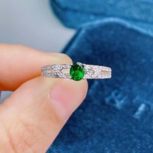 Shop Diopside Rings! Beautiful Green Diopside Ring, Handmade Sterling Silver Ring, Stacking Ring, Dainty Ring Jewelry, Genuine Diopside, Free Engraving, Shipping   Natural genuine Diopside rings, simple unique handcrafted gemstone rings. #rings #jewelry #shopping #gift #handmade #fashion #style #affiliate #ad