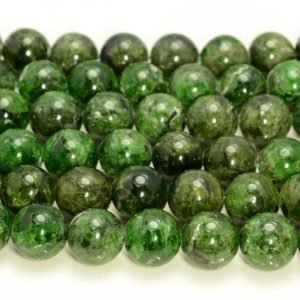 Genuine Natural Chrome Diopside Gemstone Grade A Green 7mm 8mm 9mm 10mm 11mm 12mm 13mm 14mm Round Loose Beads Half Strand (A213) | Natural genuine round Gemstone beads for beading and jewelry making.  #jewelry #beads #beadedjewelry #diyjewelry #jewelrymaking #beadstore #beading #affiliate #ad
