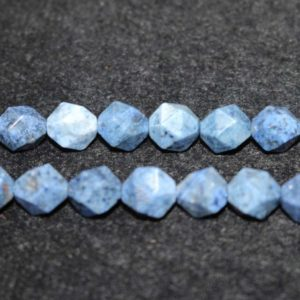 """Shop Dumortierite Beads! Natural AA Faceted Dumortierite Beads,Dumortierite Beads,6mm 8mm 10mm Star Cut Faceted Dumortierite beads,one strand 15"""" 