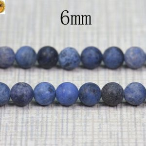 Shop Dumortierite Beads! 15 inch strand of Blue Dumortierite matte round beads 6mm 8mm 10mm for Choice | Natural genuine round Dumortierite beads for beading and jewelry making.  #jewelry #beads #beadedjewelry #diyjewelry #jewelrymaking #beadstore #beading #affiliate #ad