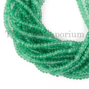 Shop Emerald Rondelle Beads! Natural Colombian Emerald Rondelles, Emerald Smooth Rondelle Beads, Emerald Rondelle Beads, Emerald Smooth Beads, Rondelle Beads | Natural genuine rondelle Emerald beads for beading and jewelry making.  #jewelry #beads #beadedjewelry #diyjewelry #jewelrymaking #beadstore #beading #affiliate #ad