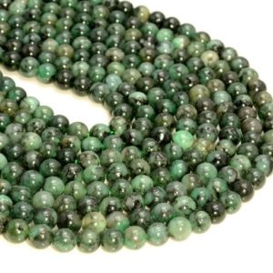 "Shop Emerald Round Beads! 3mm Genuine Natural Columbia Emerald Gemstone Genuine Natural Rare Green Grade Round Loose Beads 15.5"" Full Strand (80007987-a244) 