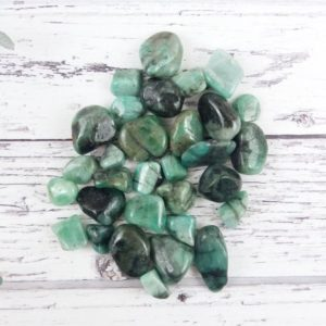 Shop Emerald Stones & Crystals! Emerald Tumbled Stones, Reiki Infused Small Crystal Wire Wrapping Spiritual Stones | Natural genuine stones & crystals in various shapes & sizes. Buy raw cut, tumbled, or polished gemstones for making jewelry or crystal healing energy vibration raising reiki stones. #crystals #gemstones #crystalhealing #crystalsandgemstones #energyhealing #affiliate #ad