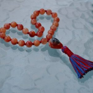 Sacral Chakra, 27+1 Red Fire Agate mala necklace, Imagination, Creativity, Emotional balance, Relationships, Sexuality, Self worth Intimacy | Natural genuine Gemstone necklaces. Buy crystal jewelry, handmade handcrafted artisan jewelry for women.  Unique handmade gift ideas. #jewelry #beadednecklaces #beadedjewelry #gift #shopping #handmadejewelry #fashion #style #product #necklaces #affiliate #ad