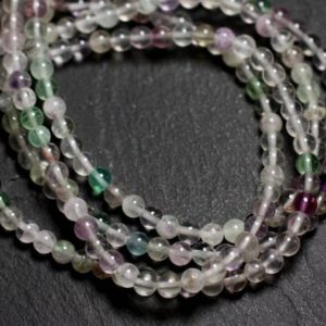 Shop Fluorite Bead Shapes! -stone Beads – 30pc Multicolor Fluorite Balls 4mm – 8741140005150 | Natural genuine other-shape Fluorite beads for beading and jewelry making.  #jewelry #beads #beadedjewelry #diyjewelry #jewelrymaking #beadstore #beading #affiliate #ad