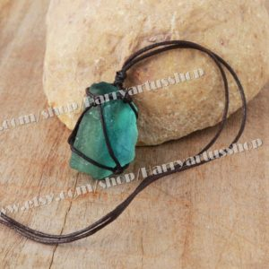 Shop Fluorite Pendants! Raw Fluorite Necklace,Rough Natural Fluorite Gemstone Pendant,Healing Crystal Wrap Necklace,Protection Energy Necklace for Women Men Gifts | Natural genuine Fluorite pendants. Buy crystal jewelry, handmade handcrafted artisan jewelry for women.  Unique handmade gift ideas. #jewelry #beadedpendants #beadedjewelry #gift #shopping #handmadejewelry #fashion #style #product #pendants #affiliate #ad