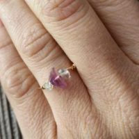 Flourite Crystal Ring- Made To Order, Custom Rings, Crystal Ring, Dainty Ring, Stackable Ring, Midi Ring, Bronze Ring, Sterling Silver | Natural genuine Gemstone jewelry. Buy crystal jewelry, handmade handcrafted artisan jewelry for women.  Unique handmade gift ideas. #jewelry #beadedjewelry #beadedjewelry #gift #shopping #handmadejewelry #fashion #style #product #jewelry #affiliate #ad