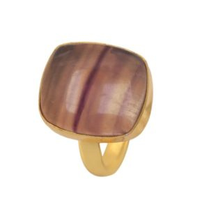 Shop Fluorite Rings! Size 6.5 – Size 8 Adjustable Fluorite 24K Gold Plated Ring GPR1163 | Natural genuine Fluorite rings, simple unique handcrafted gemstone rings. #rings #jewelry #shopping #gift #handmade #fashion #style #affiliate #ad