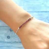 Genuine Garnet Bracelet January Birthstone Bracelet Womens Gift For Holidays Garnet Jewelry Girls Jewelry Delicate Bracelet Natural Jewelry | Natural genuine Gemstone jewelry. Buy crystal jewelry, handmade handcrafted artisan jewelry for women.  Unique handmade gift ideas. #jewelry #beadedjewelry #beadedjewelry #gift #shopping #handmadejewelry #fashion #style #product #jewelry #affiliate #ad